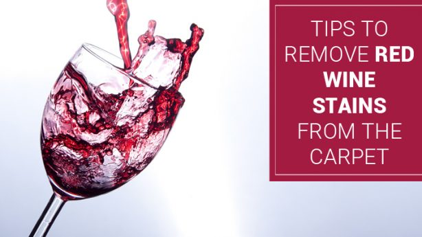 How to Remove Red Wine Stains from the Carpet?